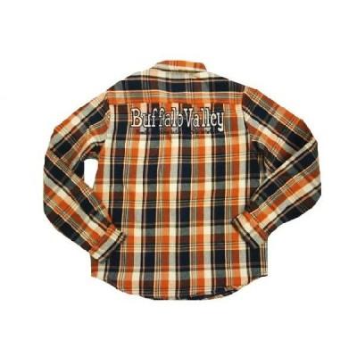 LOWBLOW KNUCKLE/ローブローナックル 長袖シャツ 56156 「Buffalo Valley」ロゴ刺繍・チェック柄・長袖ワークシャツ オレンジ系