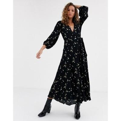 ゴースト レディース ワンピース トップス Ghost emilie maxi dress with star embroidery