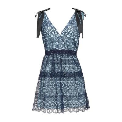 SELF-PORTRAIT ミニワンピース&ドレス ダークブルー 8 ポリエステル 100% ミニワンピース&ドレス