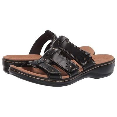 クラークス Leisa Spring レディース サンダル Black Leather