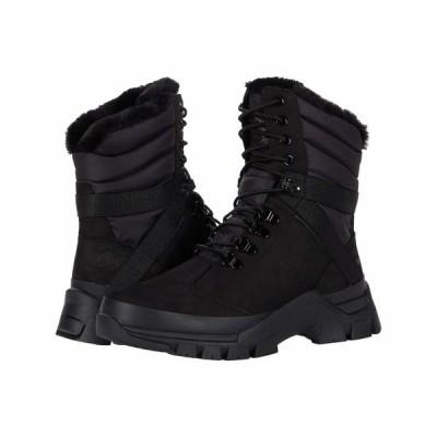 ティンバーランド ブーツ&レインブーツ シューズ レディース Jenness Falls Waterproof Insulated Leather and Fabric Boot Black Nubuck