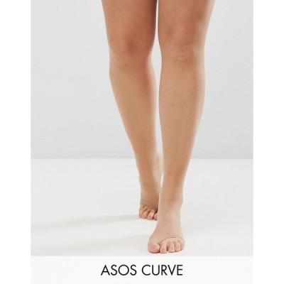 エイソスカーブ レディース レギンス ボトムス ASOS DESIGN Curve 8 denier tights in beige with sandal toe detail Beige