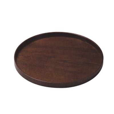 木製 漆塗り 7寸丸盆(約径210X20mm)