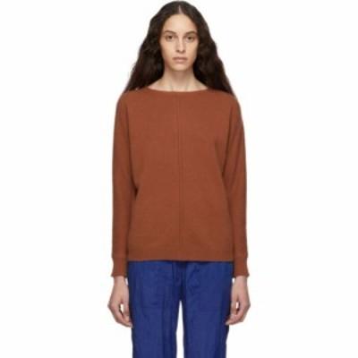 マックスマーラ Max Mara レディース ニット・セーター トップス brown cashmere masque sweater Copper