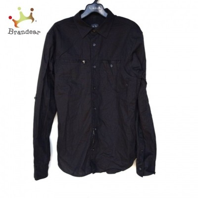 アルマーニエクスチェンジ ARMANIEX 長袖シャツ サイズS/P S メンズ 美品 黒 新着 20210607