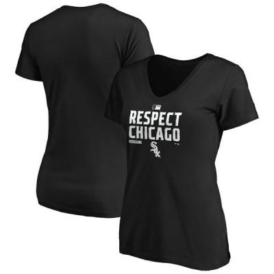 ファナティクス ブランデッド レディース Tシャツ トップス Chicago White Sox Fanatics Branded Women's 2020 Postseason Locker Room V-Neck T-Shirt