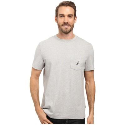 ノーティカ Nautica メンズ Tシャツ ポケット トップス Short Sleeve Solid Anchor Pocket Tee Grey Heather