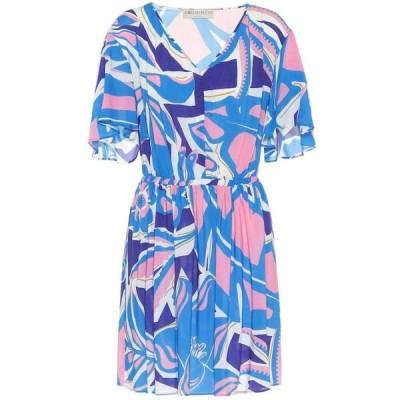 エミリオ プッチ Emilio Pucci Beach レディース ワンピース ワンピース・ドレス printed minidress Turchse/Peonia