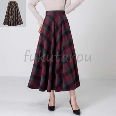 ロングスカート レディース 秋冬 エレガントなシルエットのフレアスカート マキシスカート マキシ丈 スカート