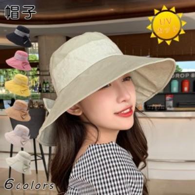 カンカン帽 帽子 UVカット 日焼け防止 日よけ 日よけ帽子 紫外線対策 UV対策帽子 おしゃれ レディース バケットハット 流行 ハット スト