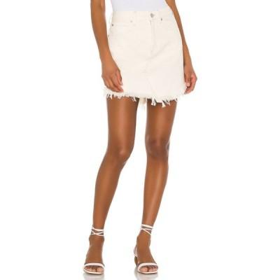 フリーピープル Free People レディース ミニスカート スカート Bailey Denim Mini White