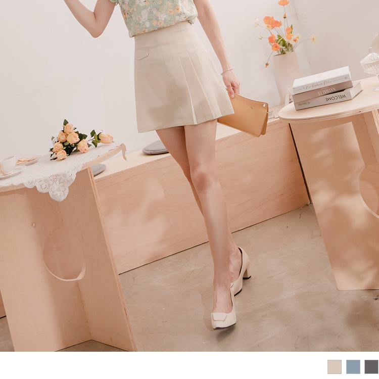 氣質OL造型單邊百褶短裙