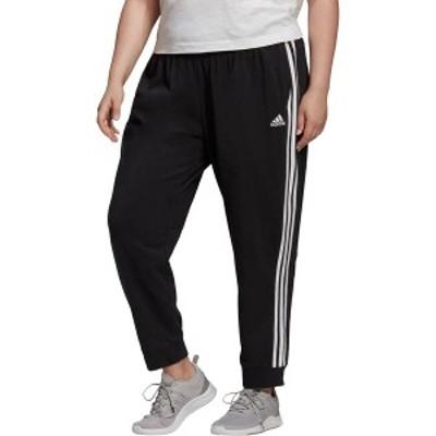 アディダス レディース カジュアルパンツ ボトムス adidas Women's Essentials Single Jersey 3-Stripes Jogger Pants Black