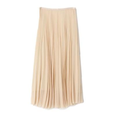 スカート ESTNATION / シフォンランダムプリーツスカート