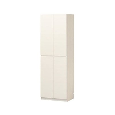 白井産業 壁面キャビネット  ホワイト  約幅60 奥行40 高さ180 cm  ポルターレ・リビング  POR-1860DWH
