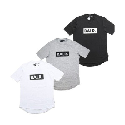 BALR. ボーラー balr.  メンズ 半袖 Tシャツ CLUB T ボックスロゴ ブラック ホワイト グレー