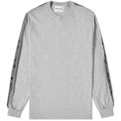 エムケーアイ MKI メンズ 長袖Tシャツ トップス Long Sleeve Tape Tee Grey
