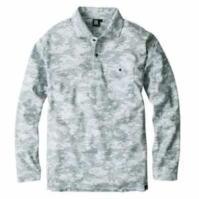 コーコス信岡 G-1738 ニオイクリア  消臭長袖ポロシャツ デジグレーL グラディエーター GLADIATOR 吸汗速乾/UVカット