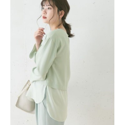 URBAN RESEARCH ROSSO/アーバンリサーチ ロッソ 異素材ドッキングブラウス MINT FREE