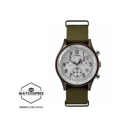 腕時計 タイメックス Timex Men's MK1 Aluminum Chronograph 40mm Fabric Watch TW2R67900