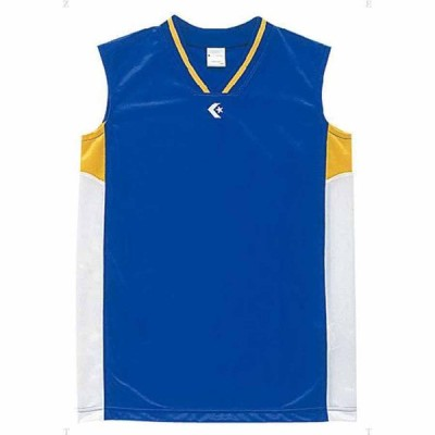 コンバース ジュニア用(ガールズ)ゲームシャツ(Rブルー/ ホワイト・170) CONVERSE CB64701-2511-170 返品種別A