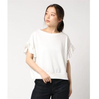 tシャツ Tシャツ フリル袖ゆるTシャツカットソー