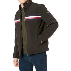 Tommy Hilfiger 2019男時尚立領柔軟黑色運動外套