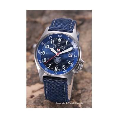 ケンテックス 腕時計 S455M-02 航空自衛隊モデル ブルー/ネイビーナイロンストラップ