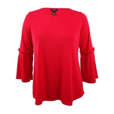 レディース 衣類 トップス Alfani Women's Plus Size Ribbed Bell-Sleeve Top ブラウス&シャツ