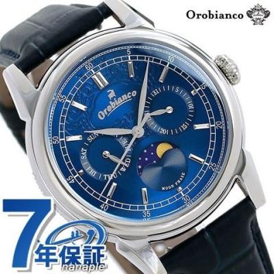 オロビアンコ 時計 ビアンコネーロ 40mm 月齢時計 メンズ 腕時計 OR0074-5 Orobianco ブルー×ネイビー
