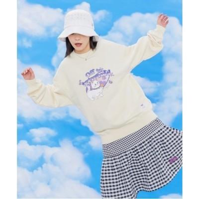 スウェット 【TARGETTO】FLOWER KITTEN SWEAT SHIRT / ターゲット フラワー キャット スウェットシャツ