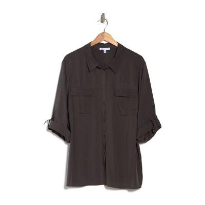 ディ アール トゥ バイ ダニエル レイン レディース シャツ トップス Equipment Roll Tab Sleeve Shirt GREY BELUG