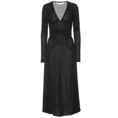 ローテート ROTATE BIRGER CHRISTENSEN レディース パーティードレス ワンピース・ドレス Stretch-knit metallic midi dress Black