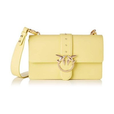 Pinko Love Classic Simply Fl Vitello Women's Cross-Body Bag, Yellow (Giallo Cedrino), 7.5x16.5x27 Centimeters (W x H x L) 並行輸入品