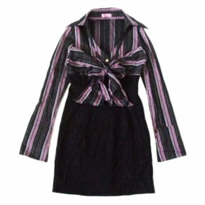 Sugar glass シュガーグラス  リボンワンピース (黒 ドレス) 103573【中古】