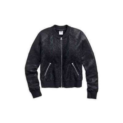 コート ジャケット ベスト ハーレーダビッドソン Harley-Davidson Women's Coated Foil Bomber Casual Jacket, Black 96034-17VW