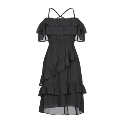 TWENTY EASY by KAOS ミニワンピース&ドレス ブラック 38 ポリエステル 100% ミニワンピース&ドレス