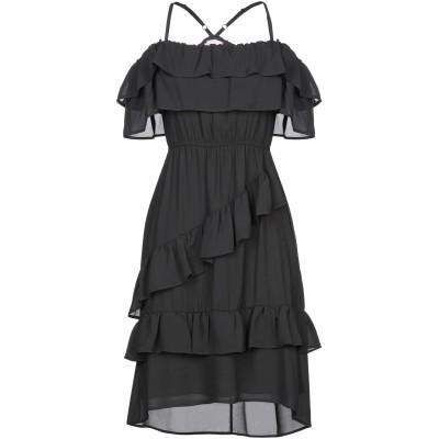 TWENTY EASY by KAOS ミニワンピース&ドレス ブラック 42 ポリエステル 100% ミニワンピース&ドレス