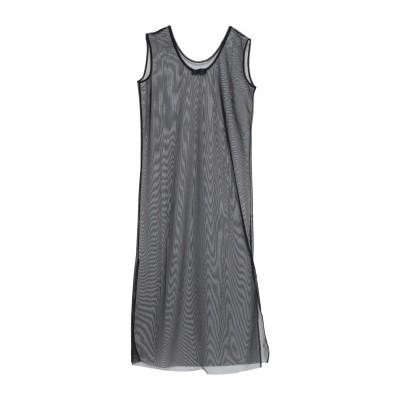 SATÌNE ミニワンピース&ドレス ブラック M レーヨン 100% ミニワンピース&ドレス