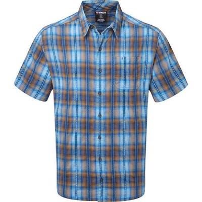 シャーパ シャツ メンズ トップス Sherpa Men's Jhapa Shirt Neelo Blue