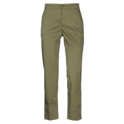 EUROPEAN CULTURE パンツ ミリタリーグリーン XS コットン 93% / ポリウレタン 7% パンツ
