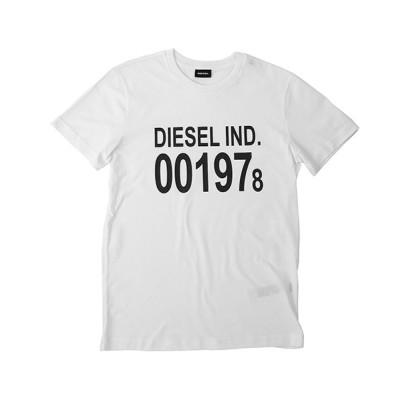 (DIESEL/ディーゼル)DIESEL T-DIEGO-001978 ディーゼル プリント Tシャツ 00SASA-0AAXJ/メンズ ホワイト