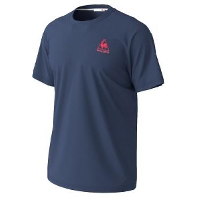 【セール】 ルコックスポルティフ メンズスポーツウェア 半袖機能Tシャツ 半袖シャツ QMMPJA30ZZ NVY NVY