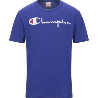 チャンピオン CHAMPION メンズ Tシャツ トップス t-shirt Blue