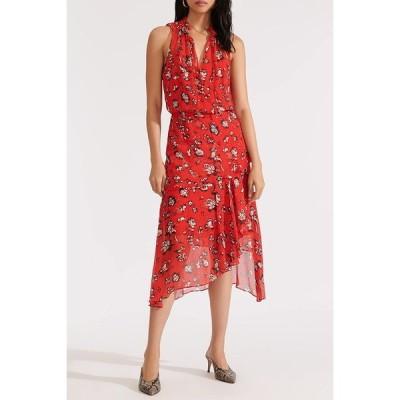 ヴェロニカ ベアード レディース ワンピース トップス Corsica Floral Print Midi Dress RED MULTI