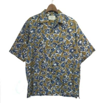 STUDIOUS 総柄アロハシャツ ブラウン サイズ:3 (栄店) 200520