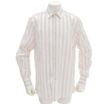 ルイヴィトン LOUIS VUITTON ストライプ柄 カッターシャツ Yシャツ コットン100% ホワイト 41/16 本物保証 美品