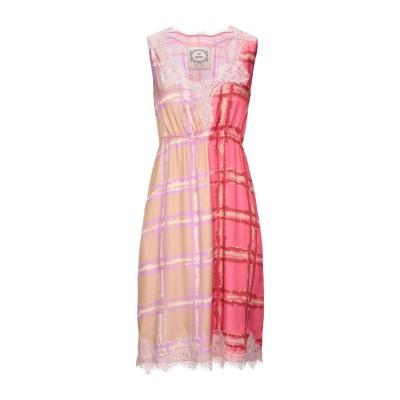 ピンク メモリーズ PINK MEMORIES ミニワンピース&ドレス フューシャ 44 レーヨン 65% / シルク 35% / コットン / ナ