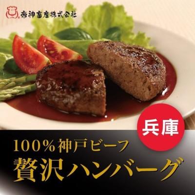 神戸ビーフ ハンバーグ 100g×5枚 送料無料 産地直送 お取り寄せ ギフト
