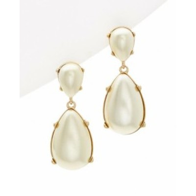 Kenneth Jay Lane ケネスジェイレーン ファッション アクセサリー Kenneth Jay Lane Plated Faux Pearl Drop Earrings Multicolor